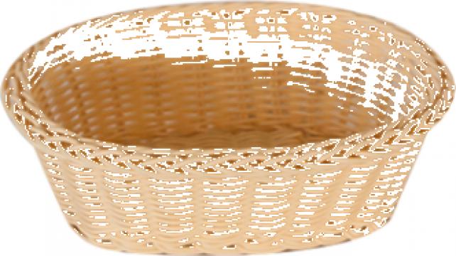 Cos servire paine oval Raki 21x16x7cm culoare natural de la Basarom Com