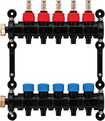 Distribuitor-colector modular, cu debitmetre de la Sistema Comfort And Energy Saving