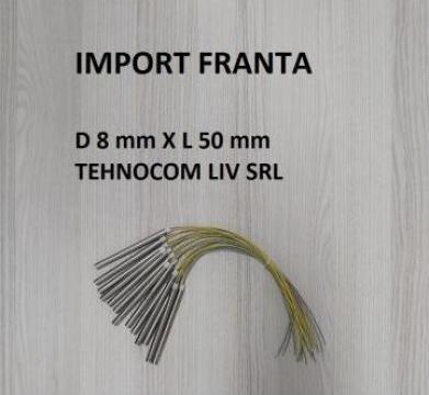 Rezistenta incalzit D 8 mm, L 50 mm, P 125-200 W de la Tehnocom Liv Rezistente Electrice, Etansari Mecanice