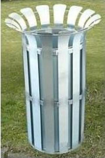 Cos de gunoi metalic 85 litri, otel inoxidabil de la Electrofrane
