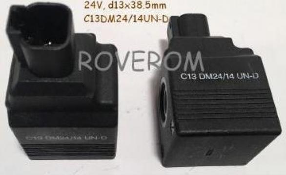 Bobina 24V, d13x38.5mm, JCB 426, 436, JS180, JS220, JS330 de la Roverom Srl