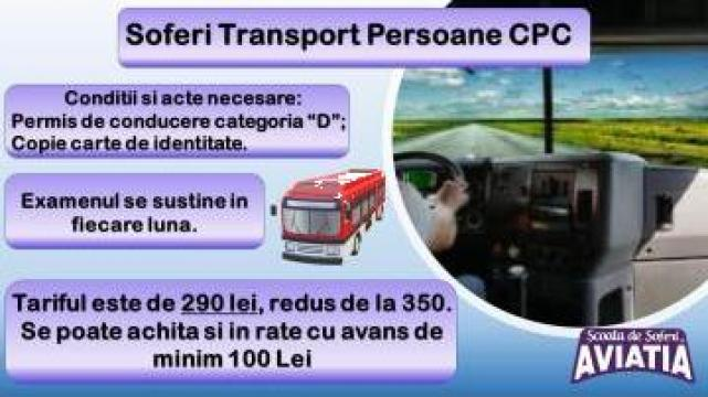 Curs atestat pentru transport persoane