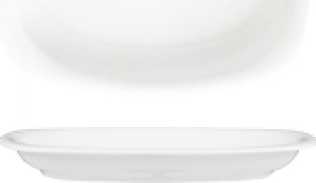 Platou oval din portelan 19x13cm colectia Mimoza