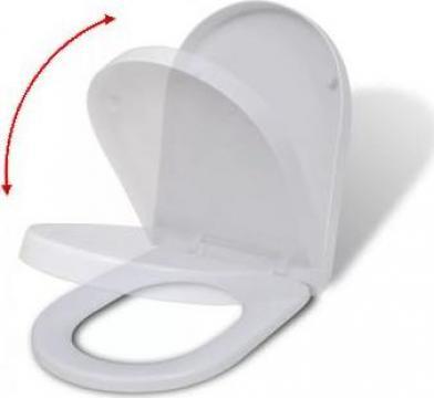 Capac WC patrat cu inchidere silentioasa, alb