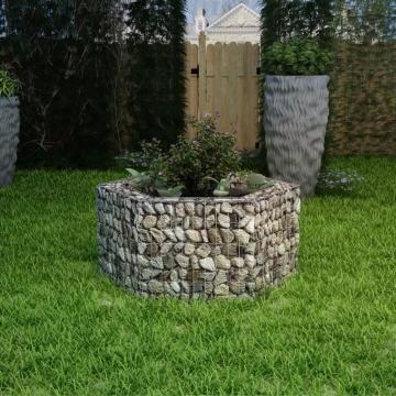 Jardiniera gabion hexagonala, 100 x 90 x 50 cm