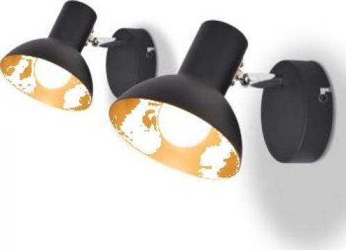 Lampi de perete 2 buc. becuri e27, negru si auriu de la Vidaxl