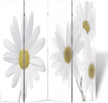 Paravan despartitor cu imprimeu floral, 160 x 180