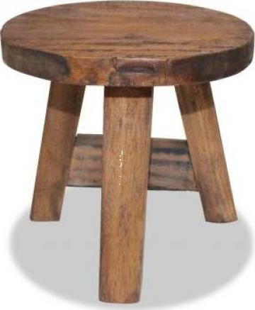 Scaun din lemn masiv reciclat 20x20x23 cm