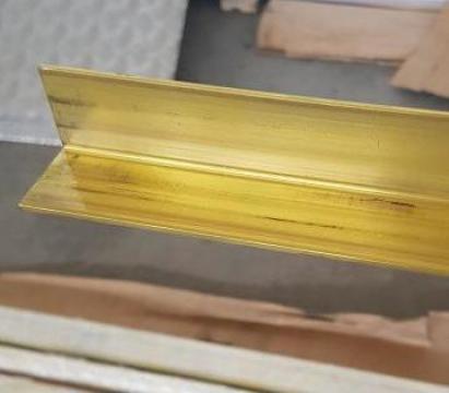 Cornier alama 15x15x1.5x1000mm profil L coltar CuZn37 CW508L