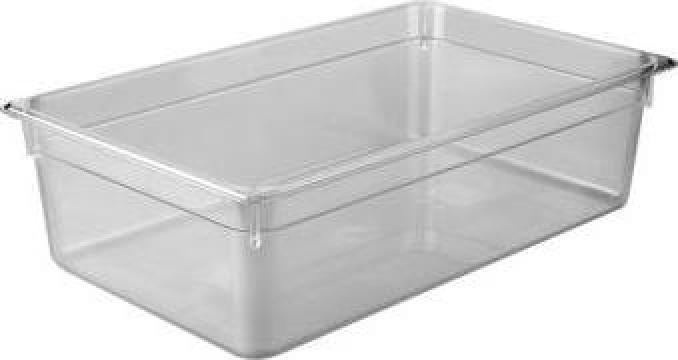 Tava gastronorm policarbonat 1/1-150 19,5litri transparent de la Basarom Com
