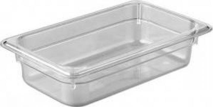 Tava gastronorm policarbonat 1/4-65 1,7litri transparent de la Basarom Com