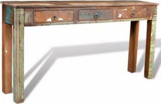 Masa consola cu 3 sertare, lemn reciclat de la Vidaxl