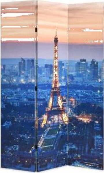 Paravan de camera pliabil 120x180 cm, Parisul noaptea
