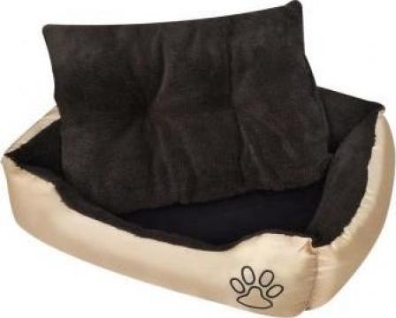 Pat cald L pentru caini cu perna captusita de la Vidaxl