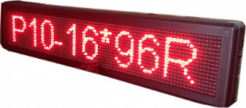 Reclama luminoasa led rosie 135/20cm exterior de la New Sound Activ Srl