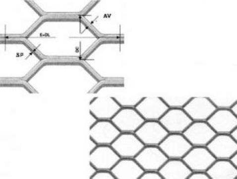 Table expandata cu gauri hexagonale