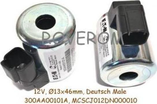 Bobina 12V, d13X46mm, 2 pini, electrovalva hidraulica de la Roverom Srl