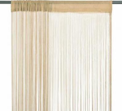 Draperii cu franjuri, 2 buc., 100 x 250 cm, bej de la Vidaxl
