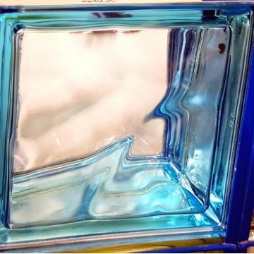 Caramida sticla Blue metalizat de la Geo & Vlad Com Srl