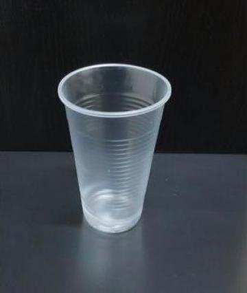 Pahar plastic transparent 330cc 100buc/set de la Cristian Food Industry Srl.