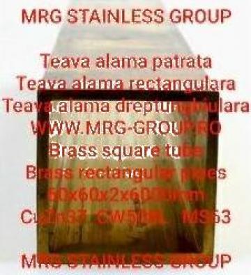 Teava alama patrata 60x60x2 rectangulara rotunda aluminiu de la MRG Stainless Group Srl