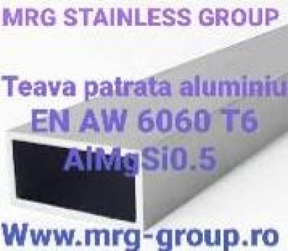 Teava aluminiu dreptunghiulara 40x20x2mm