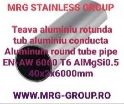 Teava aluminiu rotunda 40mm de la MRG Stainless Group Srl