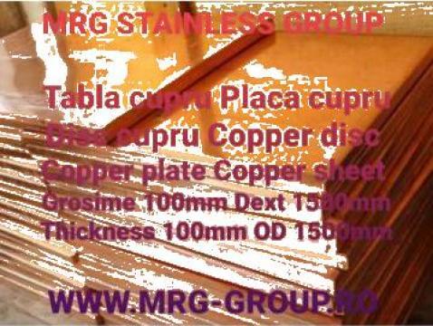 Tabla cupru 100mm, placa disc copper, aluminiu, inox, alama