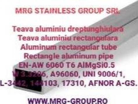 Teava aluminiu dreptunghiulara 20x10x1.5mm