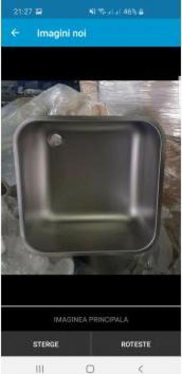 Cuva inox industriala 500x500x300mm alimentara teava bara de la MRG Stainless Group Srl