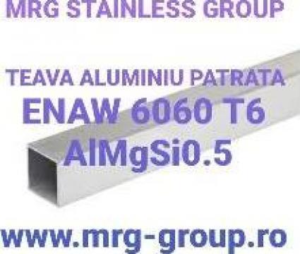Teava aluminiu patrata 15x15x1.5mm