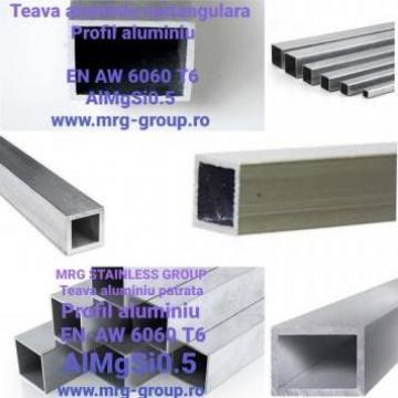 Teava aluminiu dreptunghiulara 70x50x2mm rectangulara
