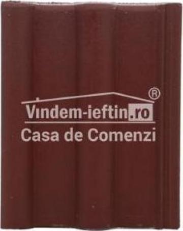 Tigla de beton 1/1 Bramac Alpina Clasic P5 Brun Roscat