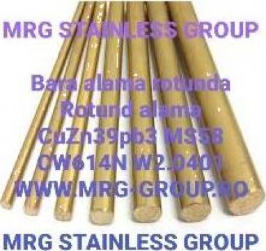 Bara alama rotunda 15x3000mm CuZn39Pb3 CW614N de la MRG Stainless Group Srl