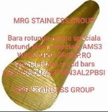 Bara alama speciala rotunda 130mm AMS3 CW713R CuZn37Mn3Al2Pb de la MRG Stainless Group Srl