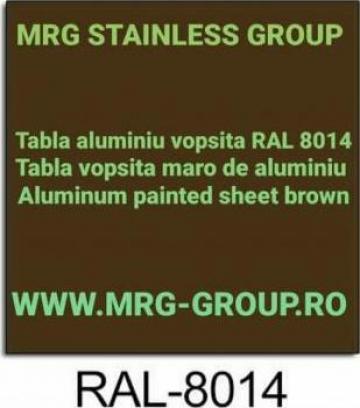 Tabla aluminiu vopsita maro RAL 8014 coala foaie rulou banda