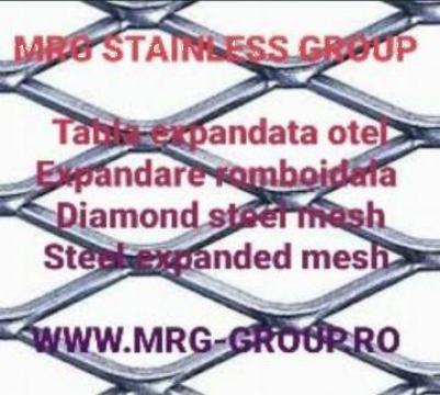 Tabla expandata otel 2x1000x2000mm, 28x12mm, 28x13mm de la MRG Stainless Group Srl