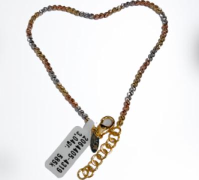 Bratara din aur Curcubeu Heart de la Dixi Bijou Srl
