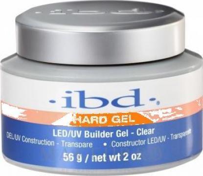 Gel unghii Ibd Hard gel 56 gr. transparent