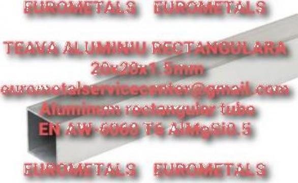 Teava patrata aluminiu 20x20x1.5mm