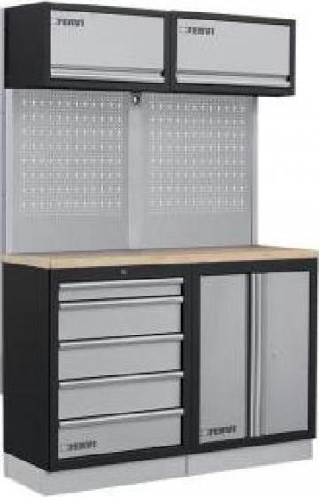 Mobilier modular pentru atelier A007M de la Proma Machinery Srl.
