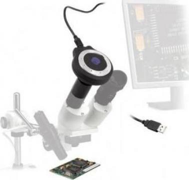 Ocular electronic adaptor pentru microscop M063 de la Proma Machinery Srl.