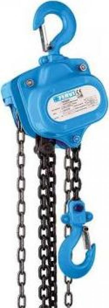 Palan manual cu lant 2000 Kg 3 m 0056/2 de la Proma Machinery Srl.