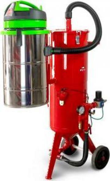 Masina de sablat cu reciclare abraziv Pressure Blaster Base de la Euroconsult Srl
