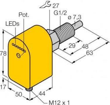 Senzor de imersie cu procesor integrat, FCS-GL1/2A4P-AP8X-H1