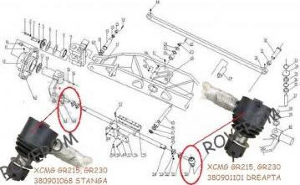 Cap bara directie XCMG GR135, GR165, GR180, GR125, GR230 de la Roverom Srl