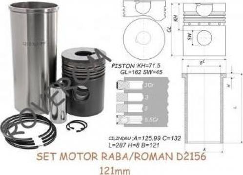 Set motor Ikarus, Man, Raba/Roman D2156, 121mm