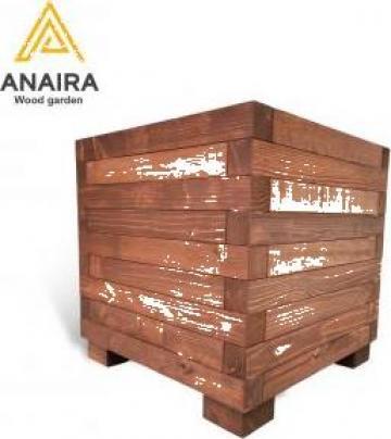 Jardiniera lemn masiv de la Anaira Art Mob Srl-d