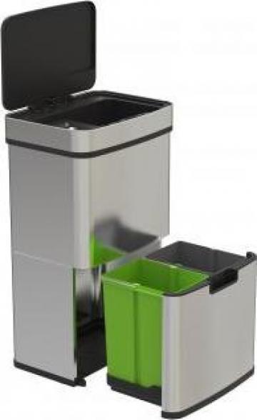 Cos de gunoi cu senzor SD 802 - colectare selectiva 62 litri de la Lili Com International Srl