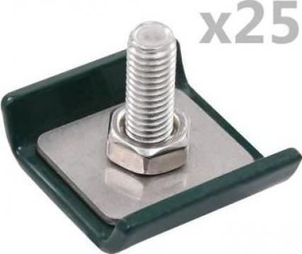 Conector grilaj din plasa, verde, 25 seturi de la Vidaxl